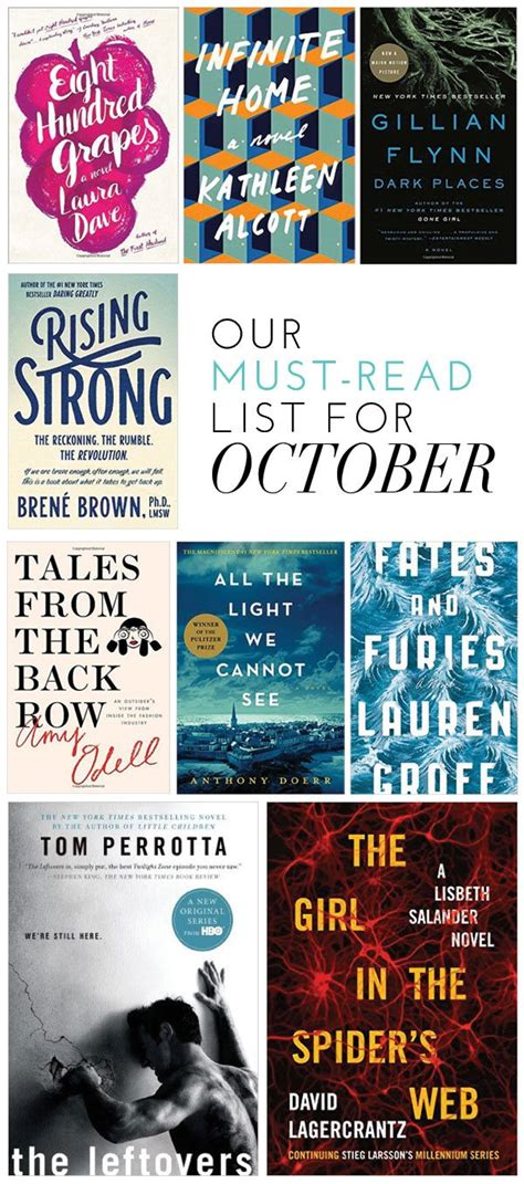 the must guide a listed our must read list for october glitter guide