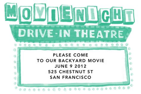 backyard movie night invitations backyard movie night invitations