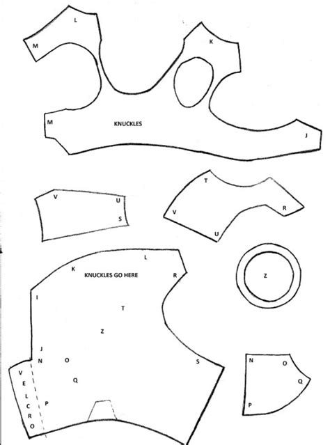 iron suit template this is the template i used for my iron gauntlet but
