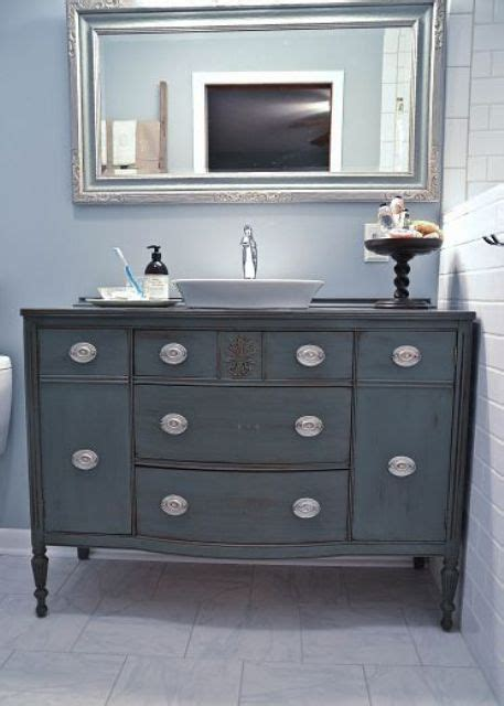Colorful Bathroom Vanity 29 Vintage And Shabby Chic Vanities For Your Bathroom Digsdigs