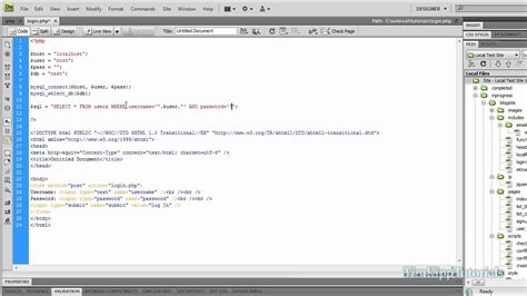 tutorial php programming php programming tutorial creating a simple mysql login