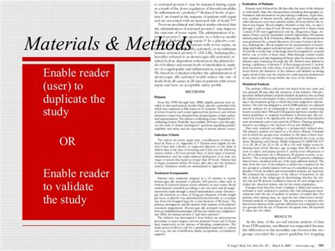 Materials And Methods In Research Paper by Writing A Scientific Paper