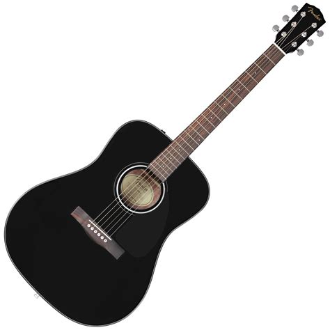 video guitar disc fender cd 60 acoustic guitar black at gear4music ie
