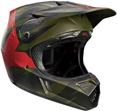 green motocross helmet fox v3 marz le motocross mx helmet mips green matt