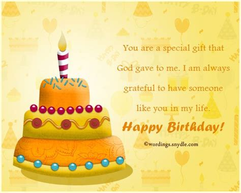 In Birthday Card Messages
