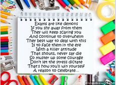 Inspirational Exam Poems: Best Wishes and Good Luck ... Final Exam Wishes