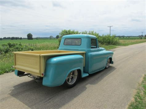 1956 chevy truck custom leather see 57