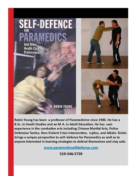 principles based for self defense and maybe books paramedic self defence