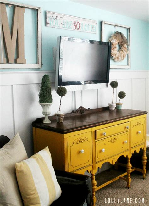 Mustard Yellow Coffee Table by How To Weather Wood By Layering Paint