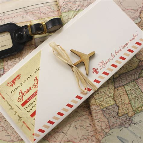 boarding new orleans vintage air mail boarding pass wedding invitation new orleans