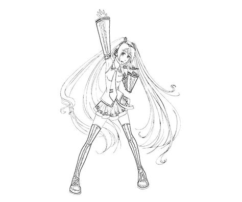 free miku hatsune coloring pages