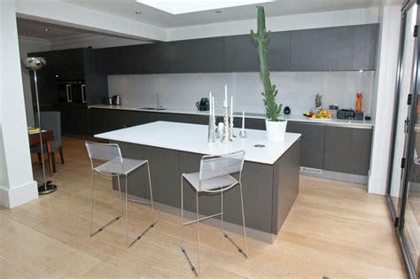 Decorating Ideas For Kitchen Islands grey kitchen island modern other metro by lwk