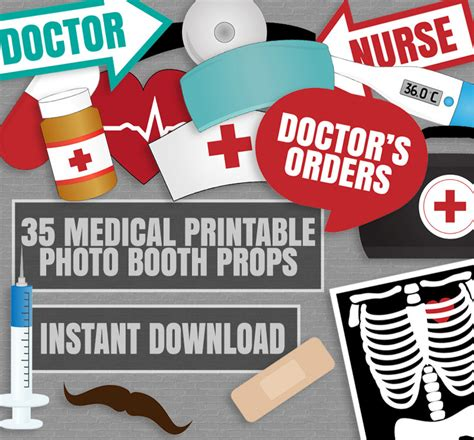 printable photo booth props love 35 medical themed party photo booth props doctor props love