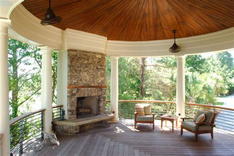 Porch Fireplace by Stacked Outdoor Fireplace Centers Circular Porch