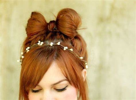 hairstyles cute bow cute hair hair bow hairstyle red hair image 420756