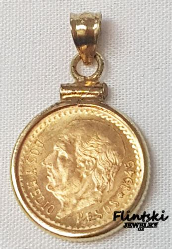 Soflens X2 Chic Diameter 15 00mm 2 5 peso coin pendant 14k gold