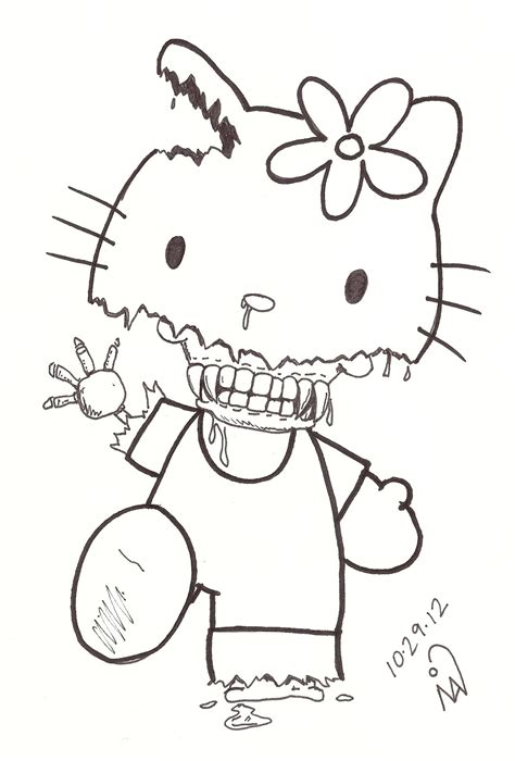hello kitty zombie halloween coloring pages the gallery for gt zombie hello kitty coloring pages