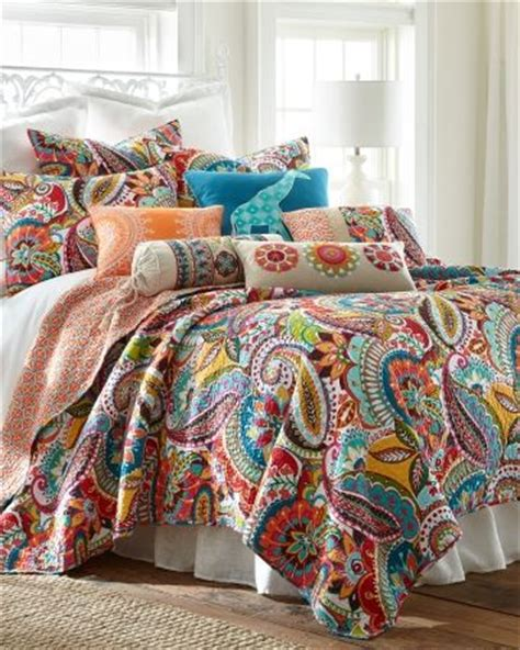 Colorful Bed Quilts by Paisley Luxury Quilt Collection Update Your Bedding Ensemble With The Rhapsody Luxury Quilt
