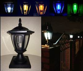4x4 post solar lights solar light black post cap color led 4x4 5x5 6x6 or wall