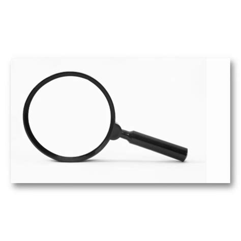 Magnifying Glass Business Card Template by Magnifying Glass Business Card Cards Business Card