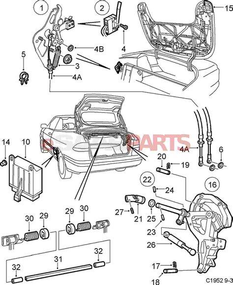 saab parts diagrams 5184403 saab microswitch genuine saab parts from