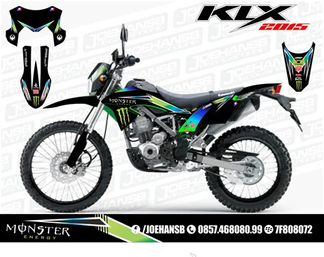 Sticker Decal Striping Dekal Stiker Klx 149 Glossy new klx bf se 150 cc 2015 collection joehansb decal graphic