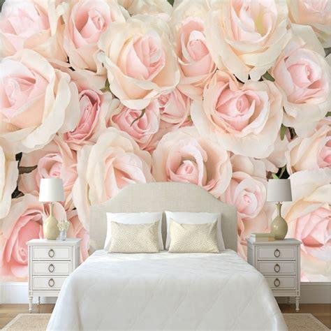 photo wallpaper romantic wall murals modern pink rose