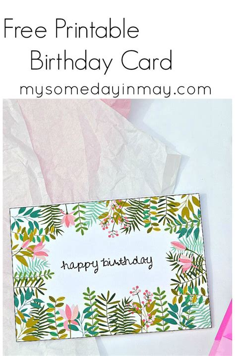 In Birthday Cards