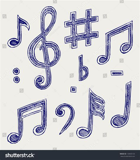musical doodle free vector vector musical notes doodle style 118935133