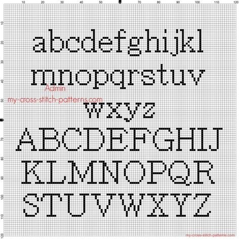 cross stitch pattern fonts cross stitch alphabet batang all letters free pattern