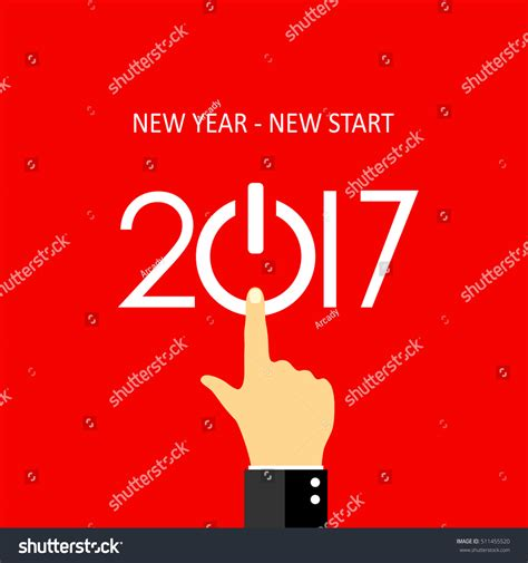 new year when does it start new year new start 2017 greeting card design vector