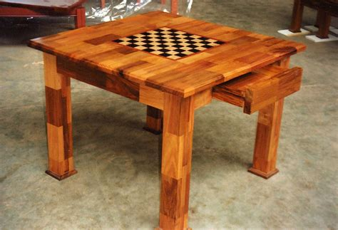 chess table checkerboard chess table diy furniture plans technical