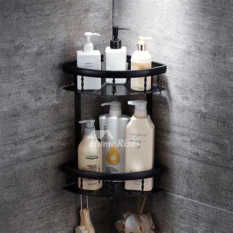 black bathroom shelves bathroom cabinets wall mounted bathroom shelves black