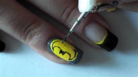 nail art batman tutorial superhero s no 1 batman nail art tutorial no music