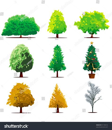 html tree tree icon set vector 91196516
