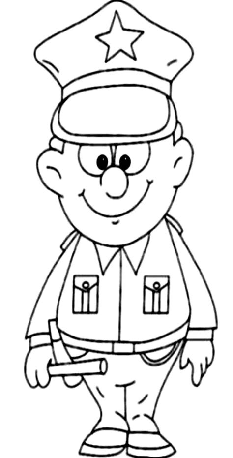coloring pages jobs and professions great policeman in professions coloring pages batch coloring