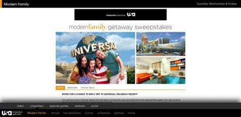 Modern Family Sweepstakes - modern family getaway sweepstakes