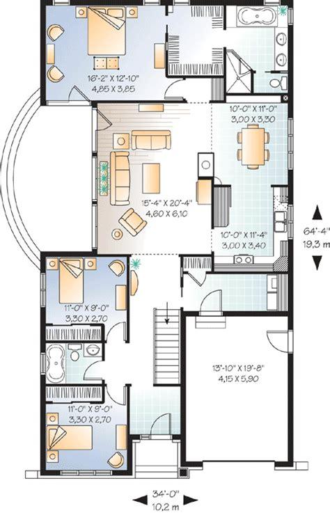 narrow lot florida house plan 21650dr 1st floor master narrow lot craftsman 21526dr 1st floor master suite