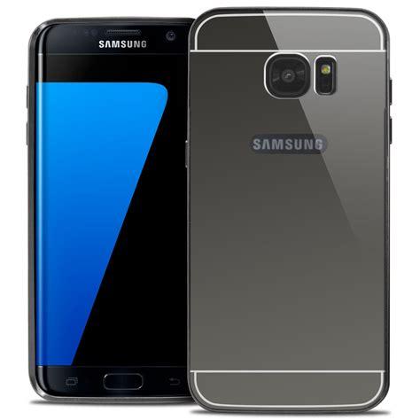 Samsung Galaxy S7 S 7 Edge Mirror Bumper Aluminum Aluminium bumper aluminium avec miroir arri 232 re galaxy s7 edge noir