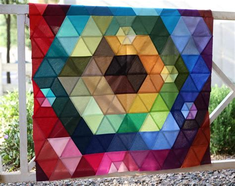 Patchwork Prism Quilt - patchwork prism quilt top is pieced pile o fabric