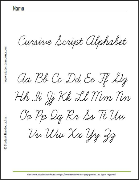 printable alphabet letters in script printable cursive alphabet this is a sle sheet of the
