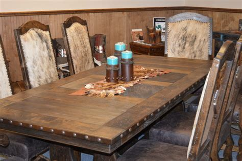 western dining room table western hacienda dining room set rustic dining tables