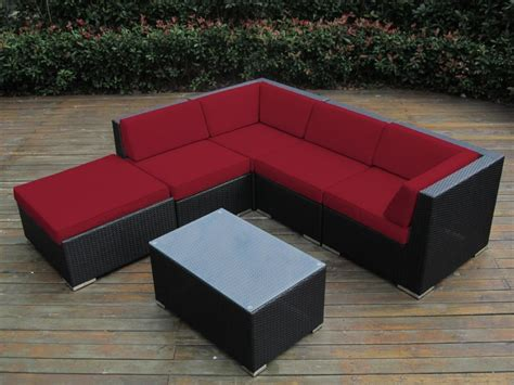 sunbrella fabric sectional sofas ohana collection 6pc sunbrella outdoor sectional sofa set