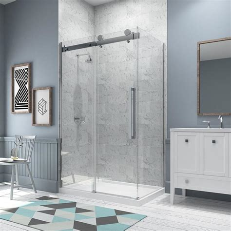 ove bathtub doors shop ove decors sierra 46 25 in to 46 75 in frameless