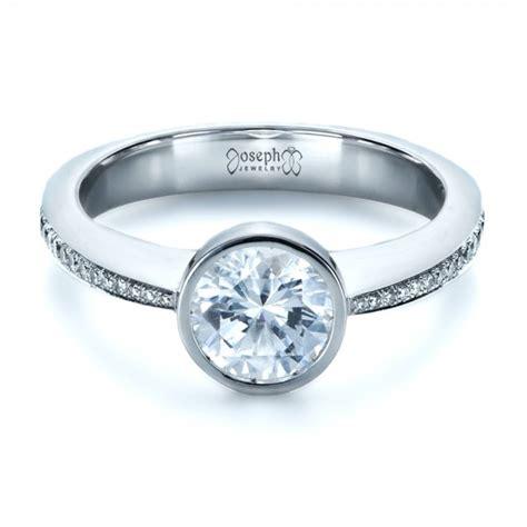 Bezel Set Engagement Rings by Custom Bezel Set Engagement Ring 1215