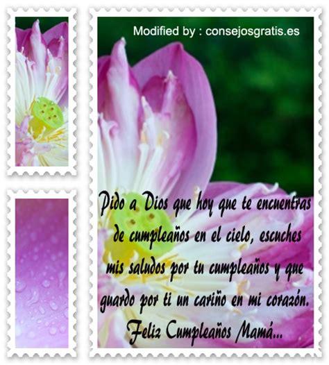 mensajes de cumpleaos para madre fallecida pensamientos de cumplea 241 os para mi mam 224 fallecida tarjetas