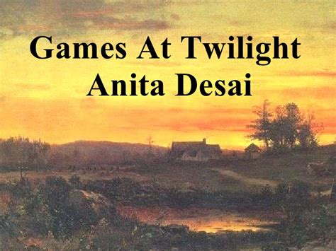 themes in games at twilight by anita desai games at twilight