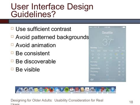 Design Guidelines User Interface | designing for older adults usability considerations for