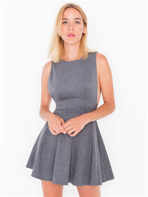 Dress For Withamerican Apparel by Ponte Sleeveless Skater Dress American Apparel