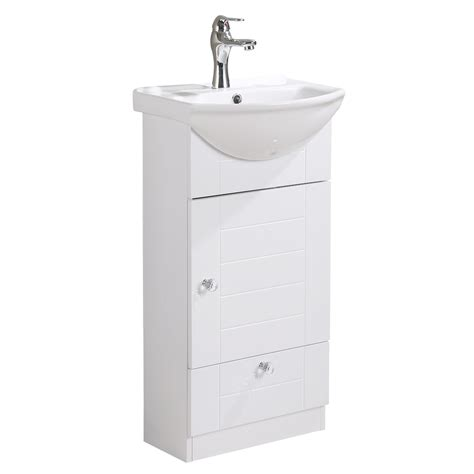 small wall mounted cabinet vanity bathroom sink  faucet easy assemble